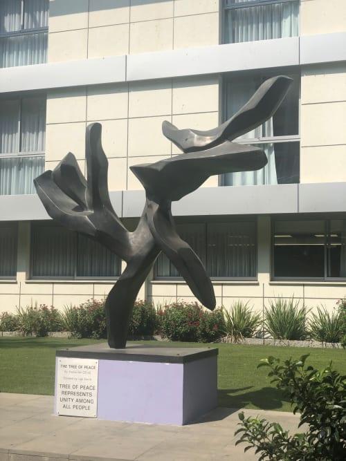 Public Sculptures by Hedva Ser seen at Kfar Maccabiah Hotel, Ramat Gan - Tree of Peace