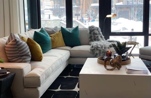 Rugs by Robin Gray Design seen at Private Residence, Snowmass Village - Dark Indigo Corina