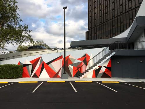 Murals by Karri McPherson seen at Wyndham Garden Norfolk Downtown, Norfolk - Geometric Configuration #1