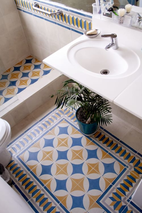 Tiles by Baldosas Córdova seen at Private Residence, Santiago - Bathroom Colors