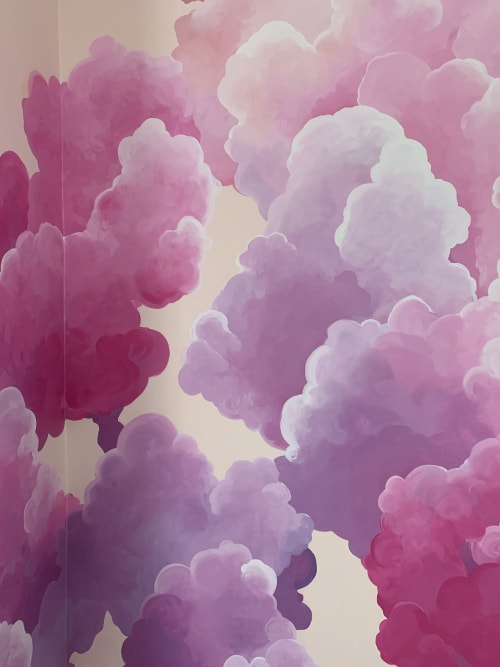 Murals by Miss Hein seen at Drink Beauty, New Orleans - CLOUDSCAPE 1