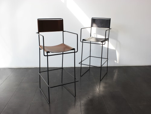 Chairs by 1Nayef Francis seen at Nayef Francis Design Studio, Beirut - Wire bar stool