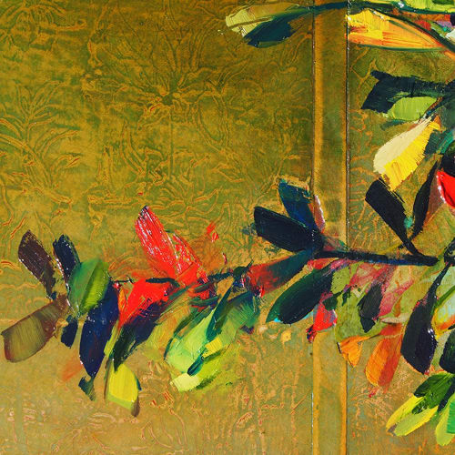 Paintings by Susan Schmidt seen at Private Residence, London - Pink Sangria_2016