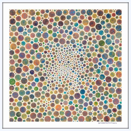 Art & Wall Decor by Seth B Minkin Fine Art at Seth B Minkin Studio + Showroom, Boston - White Circles Multicolor