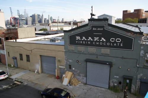 Signage by J&S Signs seen at Raaka Chocolate, Brooklyn - Raaka Chocolate Sign