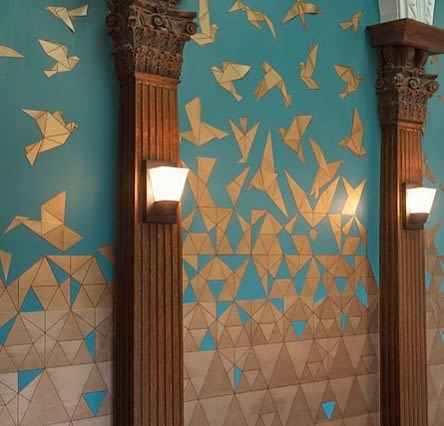 Wall Treatments by Elan Evans seen at Private Residence, San Francisco - Collage