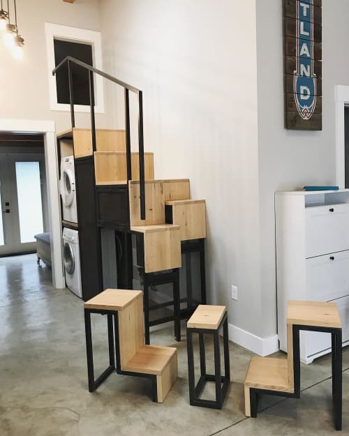 Furniture by Seamus Cummesky seen at Private Residence, Portland - Tetris cabinet