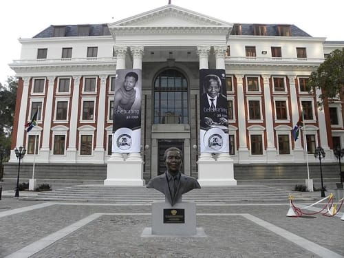 Public Sculptures by Barry Jackson Artist seen at Parliament of Republic of South Africa, Cape Town - Nelson Mandela Bust