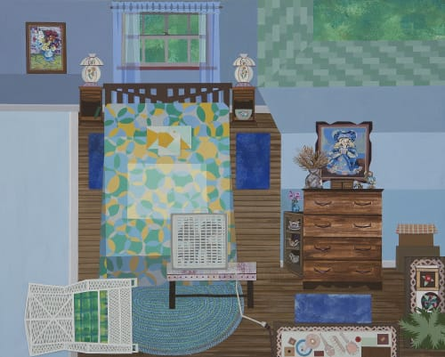 Margie and Neal's Room | Paintings by Ann Toebbe
