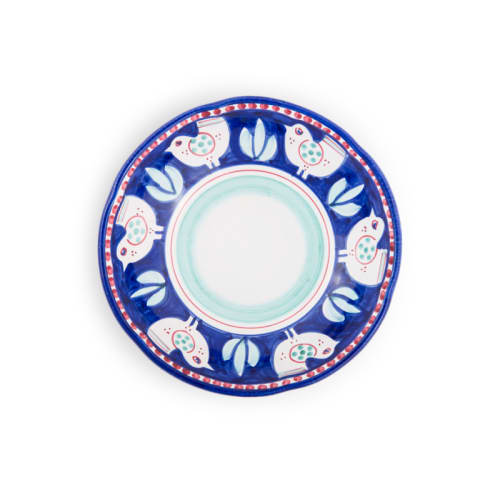 Ceramic Plates by Ceramica Assunta Positano seen at Le Sirenuse Miami, Surfside - Light Blue Chicken Soup bowl 8,5 inch (Animal Decorations)