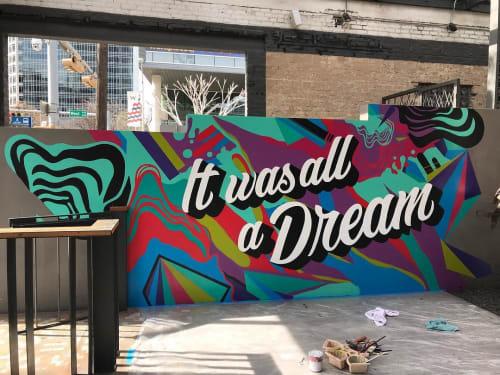 Murals by Zuzu Perkal seen at Kung Fu Saloon, Austin - It Was All a Dream