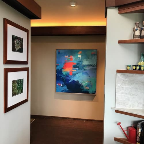 Paintings by Kate Zimmer Art seen at Private Residence, San Rafael - Castle in the Sky