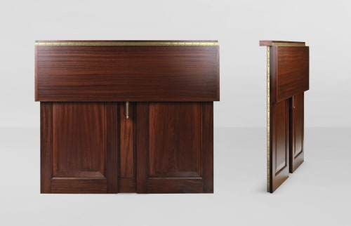 Furniture by Cider Press Woodworks seen at Soho House New York, New York - Raised Panel Folding Bar