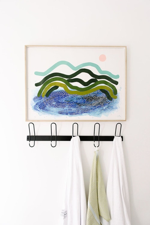 Paintings by Ruth Le Roux seen at Private Residence, Cape Town - Sea I