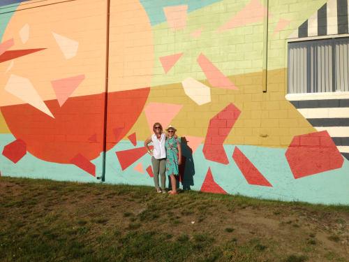 Street Murals by Tessa G. O'Brien seen at Portland, Portland - Red Circle- Portland Mural Initiative