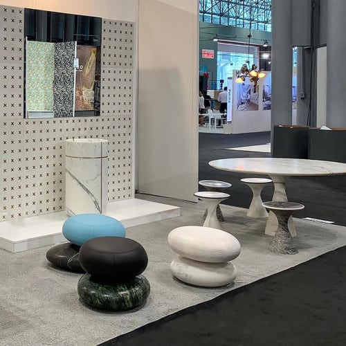 Furniture by Kreoo seen at Jacob K. Javits Convention Center, NYC, New York - Marble Design Collections