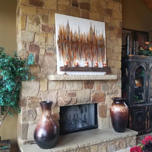 Paintings by Kelly Brynteson seen at Private Residence, Dallas - Amber Reflection