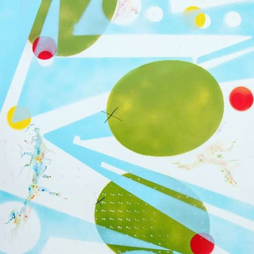 Paintings by Steve Hartman Art seen at Angad Arts Hotel, St. Louis - Dirty Martini