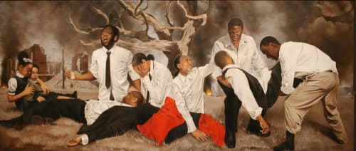 Paintings by Shawn Michael Warren seen at 21c Museum Hotel Louisville, Louisville - In a Promised Land