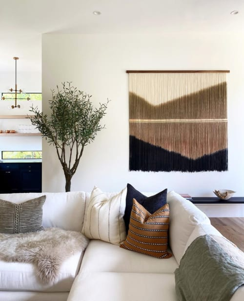 Wall Hangings by Lauren Williams seen at Private Residence, Dallas - Commissioned Driftwood for Joelle Fletcher & Jordan Rogers
