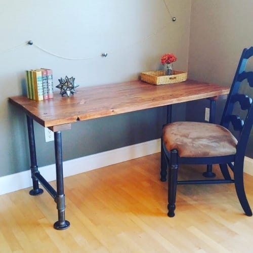 Tables by Wisconsin Farmhouse seen at Private Residence, Madison - Industrial Style Desk