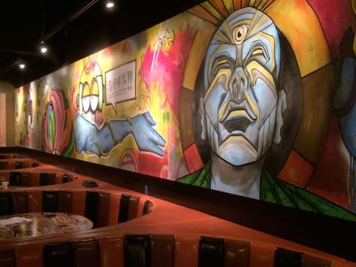 Murals by Erwin Erkfitz seen at HopCat, Ann Arbor - HopCat Mural