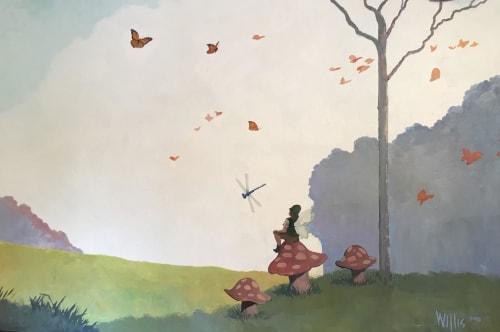 Murals by Scott Willis at Saratoga French Cultural Preschool, Saratoga - Saratoga French School Mural