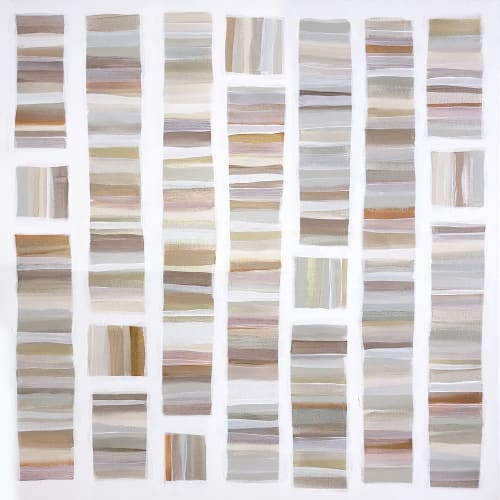 Paintings by Linnea Heide contemporary fine art seen at Creator's Studio, Asheville - 'SUNTAN'