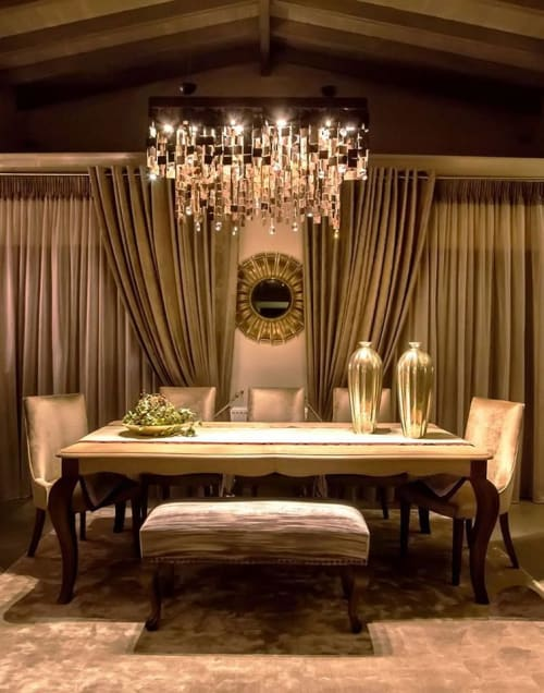 """Chandeliers by Fragiskos Bitros seen at Private Residence - """"Byzantine XL"""""""
