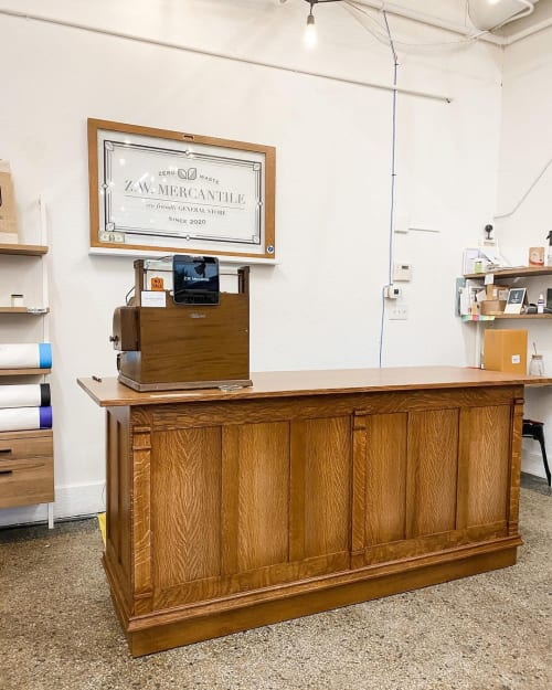 Furniture by Great Planes Millwork seen at Z.W. Mercantile, Ames - Custom PoInt of Sale counter