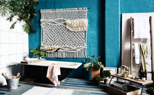 Macrame Wall Hanging by Ranran Design by Belen Senra at Private Home, San Diego, CA, San Diego - Organic Wall Art