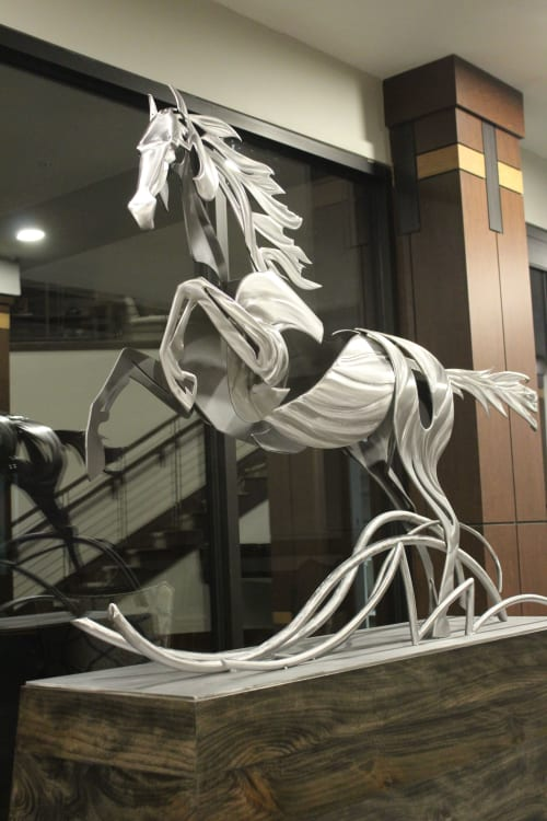 Sculptures by Amie Jacobsen Art and Design at The Fairways of Ironhorse, Leawood - Indefatigable Soul