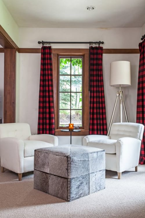 Benches & Ottomans by Luxe Home Philadelphia seen at Private Residence, Aspen, Aspen - Benches & Ottomans