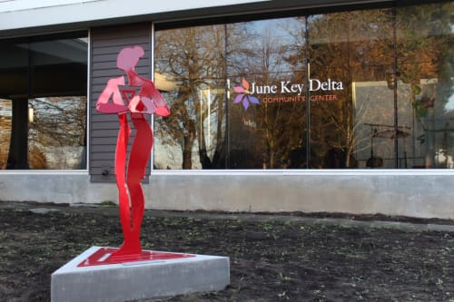 Public Sculptures by Alisa Looney seen at June Key Delta Community Center, Portland - CHRIS POOLE-JONES MEMORIAL