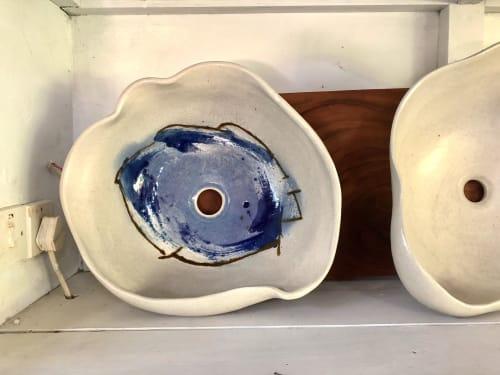 Water Fixtures by David Pinto seen at Hermosa Cove, Ocho Rios - Ceramic Organic Basin