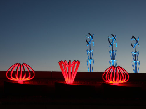 Public Sculptures by Vicki Scuri SiteWorks at Airway at Gateway, El Paso, TX, El Paso - Airway Gateway