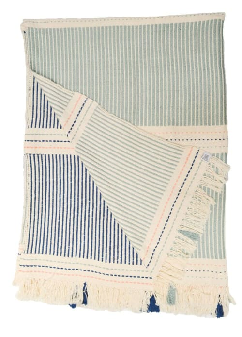 Linens & Bedding by Zuahaza by Tatiana seen at Creator's Studio, Bogotá - Large Naidi Blue Throw