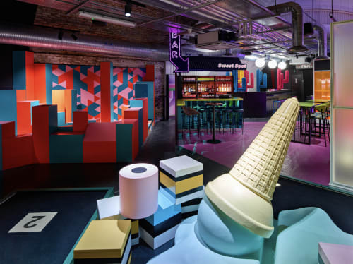 Interior Design by Shed seen at London, London - Birdies Crazy Mini Golf