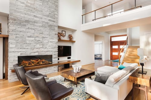 Fireplaces by Electric Modern seen at Private Home, Middleton - E60: Single-Sided Electric Fireplace