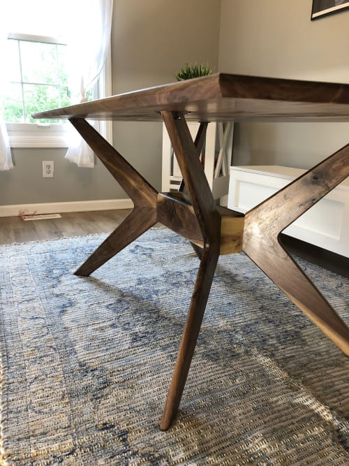 Tables by Pax Woodworking - Boomerang Dining Table