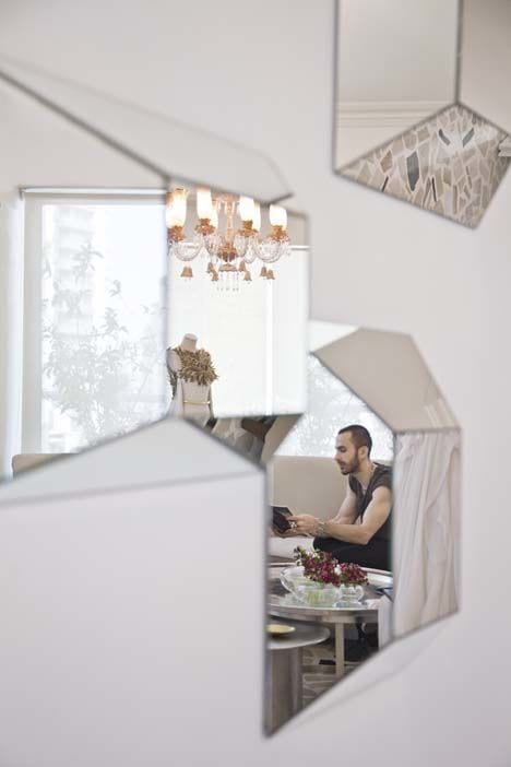 Wall Hangings by 1Nayef Francis seen at Private Residence, Beirut - Facet mirrors