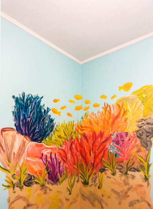 Murals by Rachel Elizabeth Design seen at Private Residence, Pensacola - Under The Sea Mural