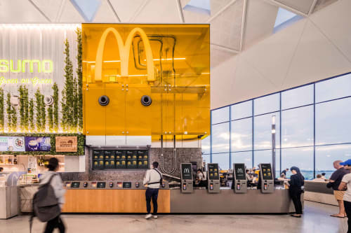 Interior Design by Landini Associates seen at Sydney Airport, Sydney - McDonald's Sydney Airport