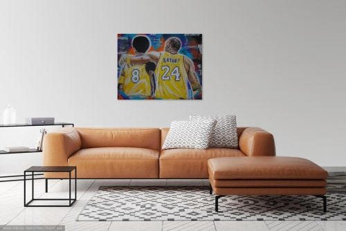Paintings by Antonio Moore Art seen at Private Residence, Aberdeen - Two Kobes