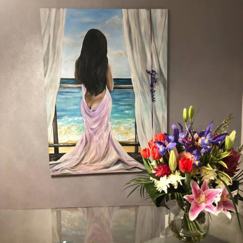 Paintings by Tetyana Bibik seen at Private Residence, Toronto - Diana