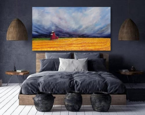 Paintings by Sabine Hahnel seen at Private Residence, Edmonton - Silence after the storm