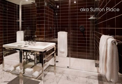 Water Fixtures by WETSTYLE seen at AKA Sutton Place, New York - C24 Console