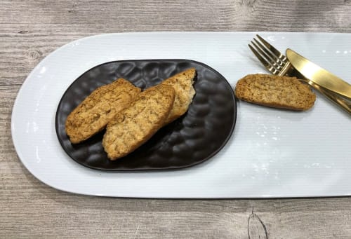 Ceramic Plates by Mieke Cuppen at Messe Frankfurt, Frankfurt am Main - CARVED tableware - Oval plate