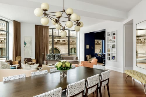 Interior Design by Michael Wood Interiors at Private Residence, New York - 10 Madison Square West