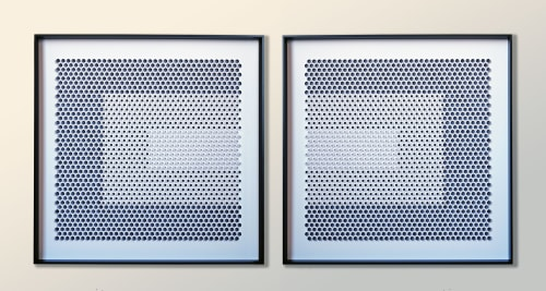 Wall Hangings by Yossi Ban Abu seen at Private Residence - Concentric - Paper Design